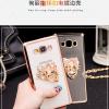 (389-016)เคสมือถือซัมซุง Case Samsung A5 เคสนิ่มขอบชุบแววพื้นหลังใสประดับแหวนโลหะตั้งโทรศัพท์สวยๆ