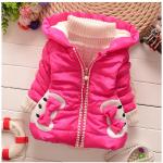 เสื้อกันหนาวสีชมพู สำหรับอายุ 1-4 ปี น่ารักมากค่ะ