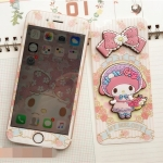 (151-233)ฟิล์มมือถือไอโฟน iPhone 6 Plus/6S Plus ฟิล์มกระจกนิรภัยลายการ์ตูน Sanrio 3D